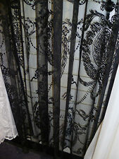 "New delicate vintage style black lace panel - 72"" drop"