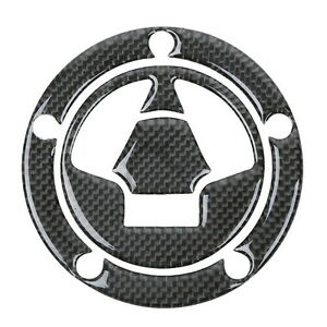 Carbon Fiber Fuel Gas Cap Sticker Decal For Kawasaki Ninja ZX6R ZX10R ZX14 07-13