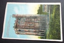 1907 OLD POSTCARD OF CAMBUSKENNETH ABBEY, TOMB OF KING JAMES III, STIRLING