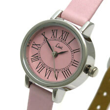 Limit Ladies Watch Classic Design Pink Strap Oval Silvertone 6807