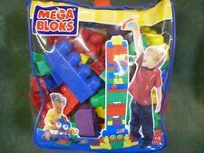Mega Bloks Big Building First Set Kids Toddler Toy Bag 80 Piece Classic Blocks