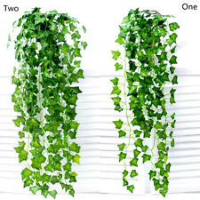 5pcs/ 2.4M Home Decor Artificial Ivy Leaf Garland Plants Vine Fake Foliage
