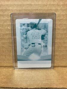 U1 2011 Topps Triple Threads #9 Dustin Pedroia Cyan Printing Plate 1/1 Red Sox