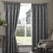"Silver Blockout Thermal Backed Curtains 66"" Wide x 72"" Drop CLEARANCE"