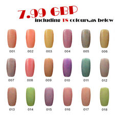 RS Nail Gel Nail Polish UV LED Soak Off Candy UV Gel 18 Colours Set Clearance