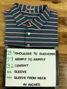 Peter Millar Summer Comfort Performance Golf ⛳ Polo Shirt Men's XXL Teal