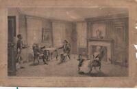 Antique D.T Valentines Manual 1861 Blue Room Lithograph Print