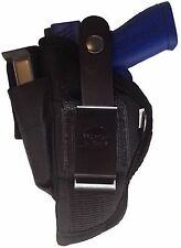 Gun Holster Fits Smith & Wesson M&P Compact Black Nylon Ambidextrous