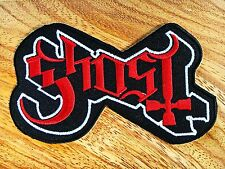 Ghost Sew Iron On Patch Embroidered Logo Rock Band Music Heavy Metal Punk DIY