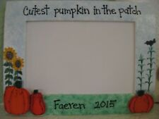 Halloween Frame CUTEST PUMPKIN in PATCH - Fall personalized photo picture frame