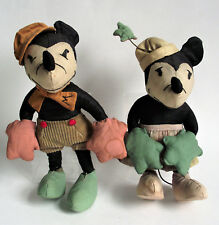 ANTIQUE Original 1930s MICKEY MINNIE MOUSE WALT DISNEY MCCALL CLOTH STUFFED DOLL