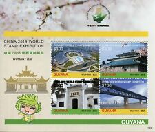 Guyana 2019 MNH Wuhan China World Stamps 4v M/S Bridges Temples Architecture