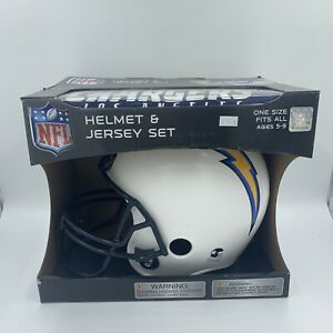 NFL Los Angeles Chargers Youth Helmet and Jersey Set Costume OSFA Ages 5-9