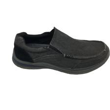 Men's Size 8 Skechers Slip on Shoes Black Grey