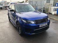 Range Rover SVR 5.0 575bhp V8 Supercharged Sport Estoril Blue 65/2015