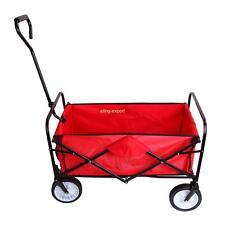 Rosso Carretto carrello rimorchio ferro rimorchio spinta per trasporto giardino