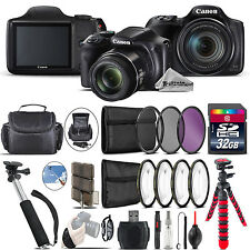 Canon PowerShot SX540 HS Camera + Spider Tripod + Monopad + Case - 32GB Bundle