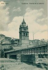 Tarjeta Postal. CALAHORRA. Logroño. Puente de la Catedral. RARA.