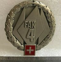 Swiss Military 4th Field Army Corps Metal Beret Badge