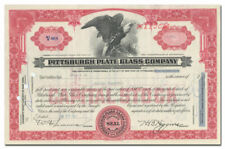 Pittsburgh Plate Glass Company Stock Certificate