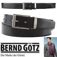 BERND GÖTZ / eleganter Ledergürtel / 3,5 cm breit / bombiert / Gürtel Nr. 351148