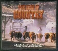 BEST OF COUNTRY 2-CD FAT BOX John Denver Glenn Campbell Tammy Wynette