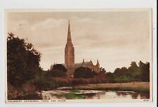 Salisbury,U.K.Cathedral from the River,Wiltshire,Used,Stroud,1939