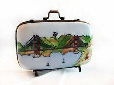 Peint Main (Hand Painted) Limoges Retired Golden Gate Bridge Trinket Box; Signed