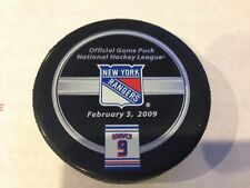 ADAM GRAVES NEW YORK RANGERS RETIREMENT NIGHT OFFICIAL GAME PUCK RARE #9