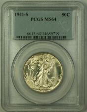 1941-S Walking Liberty Half Dollar 50c Silver Coin PCGS MS-64 *Well Struck* JAB