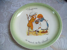 """Holly Hobbie """"Happiness Is Meant To Be Shared"""" 10 1/4"""" Collectors Edition Plate"""