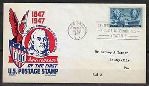 United States 1947 event cover Benjamin Franklin 1st Postmaster General RARE