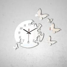 Design Wand Uhr Wohnzimmer wanduhr Spiegel Edelstahl wandtattoo Deko (Z2-L)