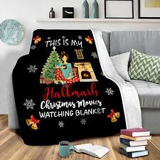 Hallmark Christmas Movie Flannel Blankets Premium Throw Blanket for Sofa Gift