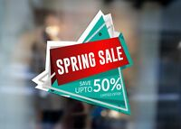 Spring Sale Save Up to 50% Off Limited Large Self Adhesive Window Shop Sign 3038