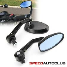 "Universal Black 7/8"" Handle Bar End Rearview Mirrors For Street Bike Sport Bikes"