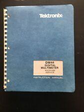 Tektronix Dm44 Digital Multimeter With Options Service Instruction Manual