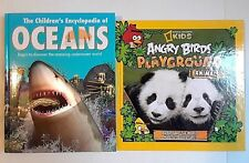 2 Children's Animal Books (Angry Birds Playground Animals & Oceans ) Pre-owned