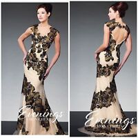 MON CHERI TBE21503 CAP SLEEVE LACE APPLIQUE MARMAID GOWN IN CHAPGENE/OLIVE $599