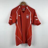 Puma Poland Polska Football Soccer Jersey Mens Size Large Short Sleeve