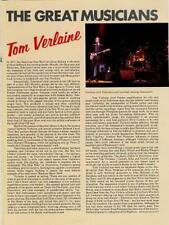 Tom Verlaine Television Encyclopedia article