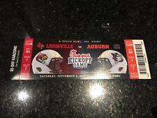 Lamar Jackson FIRST GAME Debut Ticket Louisville Cardinals vs Auburn 9/5/15 RARE
