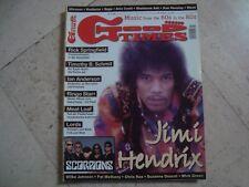 JIMI HENDRIX cover magazine Scorpions Rick Springfield Ultravox Meat Loaf Jethro
