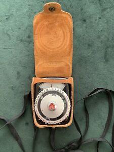 Vintage 1950's GE Guardian Exposure Meter Type PR-2 w/Leather Case