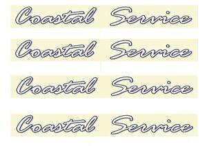 4 MODEL BUS WATERSLIDE TRANSFERS 1/76th DD SIDE ADS EAST KENT COASTAL SERVICE