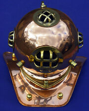 """Divers Helmet , Brass with Copper Finish, NEW Antique Reproduction, 8"""" X 6"""""""