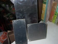 NEW OLD STOCK LOT OF THREE ASSORTED  STAINLESS STEEL DOOR PROTECTION PLATE