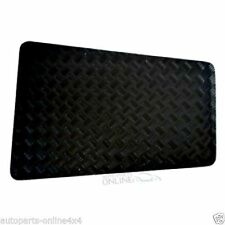 LAND ROVER DEFENDER UPTO 2006 - CHEQUER PLATE BONNET PROTECTOR BLACK - RE567B