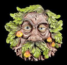 Waldgeist Wandrelief - Pilziger Griesgram - Gesicht Kobold Baumschmuck Garten