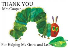 personalised Thank you teacher card hungry caterpillar